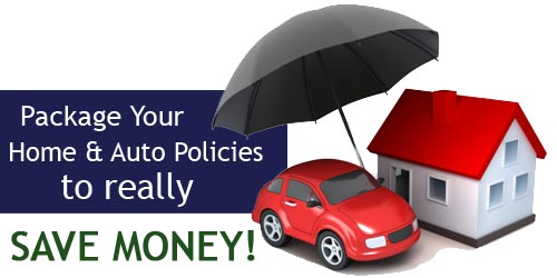 Package home and auto policies.